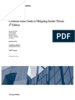 Common Sense Guide to Mitigating Insider Threats