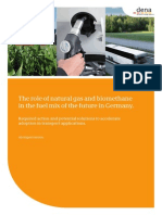 Studie the Role of Natural Gas and Biomethane in the Fuel Mix of the Future in Germany(1)