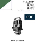 Manual Sokkia Set650rx