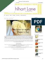Dahlhart Lane_ Como Fazer Argila Paper