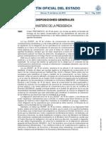 Orden PRE-199-2013, De 29 de Enero, Por La Que Se Define El Formato de Entrega de Los Datos Conservados a Los Agentes Facultados BOE-A-2013-1591