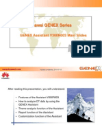 GENEX Assistant V300R003C01 Customer Training Slide