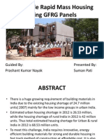 A Seminar on Affordable Rapid Mass Housing Using GFRG Panels