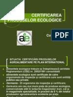 Certificarea Produselor Ecologice