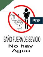 BAÑO FUERA DE SERVICIO