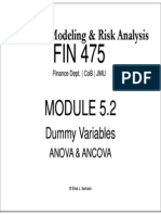 Module 5.2 - Anova and Ancova