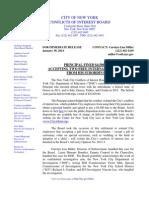 COIB Press Release & Disposition - Trips