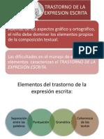 Trastornos de La Expresion Escrita- Maestria Usma