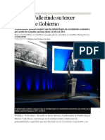 15-01-2014 Excelsior - Moreno Valle Rinde Su Tercer Informe de Gobierno