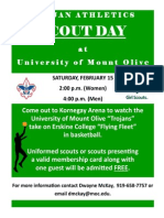 University of Mt. Olive Scout Day 2014 Flyer