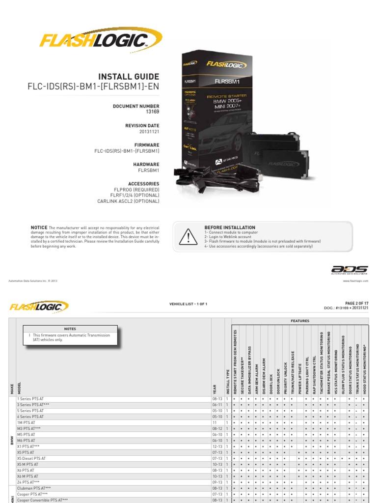 Flc Idsrs Bm1 Flrsbm1 En 20131121 Bmw Electrical Connector Results For Parrot Ck3100 Wiring Diagram Automotive Industry