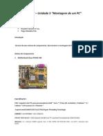 ATC - Unidade 5 - Relatorio Montagem PC