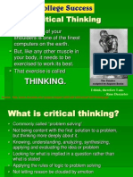 Critical Thinking in College - Chapter 5 (Part I)
