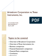 Broadcom vs Texas Instruments Financial Comparison
