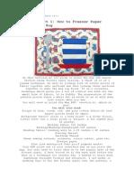 Paper Piecing PAP