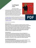 Inaugural Cornell Digital Sports Conference Application