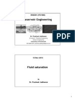 Reservoir engineering - Fluid Saturation