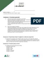 Model de Plan de Afaceri JA
