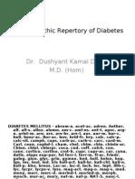 Homoeopathic Repertory of Diabetes