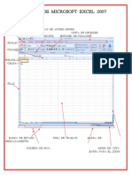 Partes de Microsoft Exel 2007