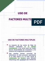 Uso de Factores Multiples