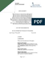 PASTPAPER2007-BN1160 Information Technology for Business