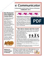 Communicator Senior Newsletter - February 2014