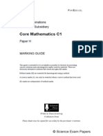 Core 1 Maths Solomon Paper H