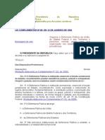 Legislaçao defensoria publica