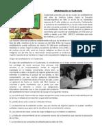 Alfabetización en Guatemala