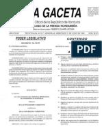 11.- Ley Del Estatuto Del Personal de Enfermeria de Honduras