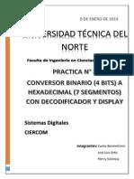 Bosmediano, Ortiz, Valencia Digitales Ciercom Conversor Binario-hexadecimal