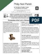 Bulletin for February 2 - 2014