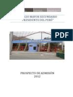Colegio Mayor Prospecto Admision 2012