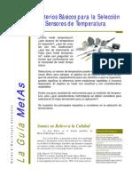 Criterios para la Selección de Sensores de Temperatura - MetAs & Metrólogos Asociados