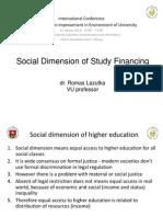 Social Dimension of Study Financing