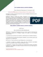 Reglamento Taurino Para El Distrito Federal