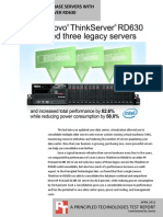 Consolidating database servers with Lenovo ThinkServer RD630
