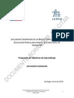 Documento Borrador Nuevas Bases Curiculares NT-2- 2014