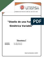 Informe Electronica I FUENTE SIMETRICA