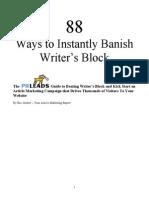 Banish Writers Block