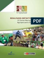 Resultados Definitivos IVCENAGRO Peru 2012