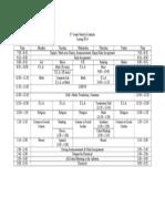 3rd grade weekly schedule 2014