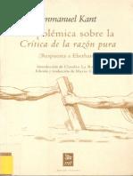 Kant, I. - La polémica sobre la «Crítica de la razón pura» (Respuesta a Eberhard) [1790]