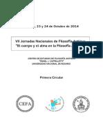 VII Jornadas de Filosofia Antigua. Rosario 2014. CIRCULAR 1.pdf