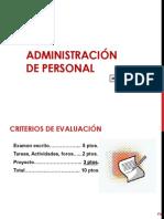 Unidad 1. Introducción, planeación y técnicas de administración de R. H.