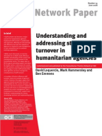 Understanding Staff Turnover HPN 2006