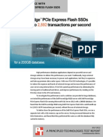 Database performance with Dell PowerEdge PCIe Express Flash SSDs
