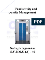 21050078 Total Productivity and Quality Management
