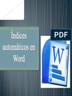 Índices automáticos en Word